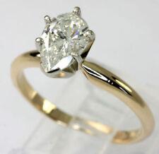 Anillos de joyería con diamantes brillantes de oro amarillo I1