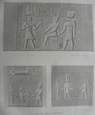 ESNE ( LATOPOLIS). (pl. 82, A. vol. I). Bas reliefs du por..  DESCRIPTION EGYPTE