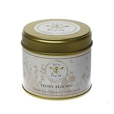 Bea Loves Natural Scented Soy Wax & Pure Beeswax 250g Candle Tin: Peony Blooms