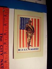 US Marines Active Service On land and sea Enlist Postcard Flag Soldier warrior