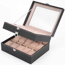 Uhrenboxen, - Etuis für mehr als 12 Uhren & Beweger aus Kunstleder