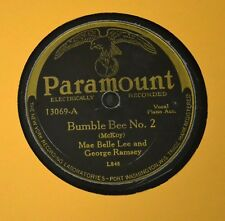 RARE PARAMOUNT BLUES 78 Mae Belle Lee George Ramsey Paramount 13069 Bumble Bee