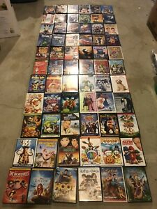 Wholesale Lot of 69 DVDs Disney Dreamworks etc Kids Movies All In Cases G & PG