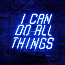 """11""""x10""""I CAN DO ALL THINGS Neon Sign Light Home Room Wall Poster Beer Bar Decor"""