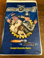 Inspector Gadget 2 VHS VCR Tape Movie Walt Disney French Stewart Rated  G Used