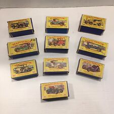 """VINTAGE Lesney MATCHBOX """" MODELS OF YESTERYEAR - CARS WITH BOXES - LOT OF 10 - B"""