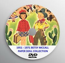 VINTAGE PRINTABLE PAPER DOLLS Betsy McCall 1951 American HiRes Collection in DVD