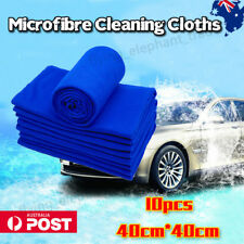 10x Microfibre Cleaning Cloth Large Size Car Gym Towel Thick & Ultra Soft AU