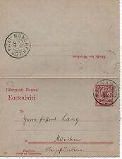 Bayern K3, Kartenbrief 1907  Passau - Muenchen #l669
