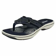f016a42cf Ladies Clarks Toe Post Summer Sandals Style - Brinkley Sea Navy Synthetic  UK 6 D