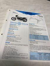 Yamaha XV1000TR1 type 5A8 1981 1982 Fiche technique moto RMT ETAI XV 1000 TR1