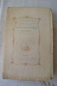 CHANSONNIER HISTORIQUE DU XVIIIE SIECLE PAR E. RAUNIE ED QUANTIN 1880 T4 BE