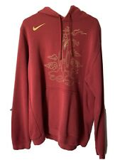 nike NBA houston rockets city edition sweater chinese new year red hoodie XL