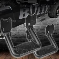 Powder Coat Black Aluminum Side Step Pair Fits Select Chevy Dodge Ford GMC Ram