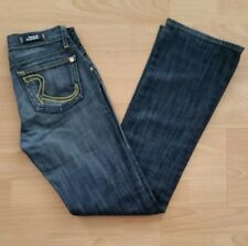 Rock & Republic Women's KDS STCK Boot Cut Jeans Size 24 Blue Dark Wash