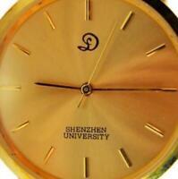 Shenzhen University 1993 Brown Leather Band Quartz New Battery Run Woman's Watch