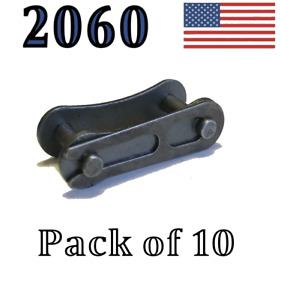 """A2060 Connecting Link (10 pack) 2060 Conveyor roller chain 1 1/2"""" Pitch Master"""