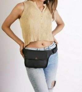 black hip bag , Boho Gypsy Utility belt pouch waistbag  fannypack  FestivaL PKT