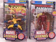 Lot Set 2 Marvel Legends Series III Action Figure Comic 2002 Daredevil Wolverine