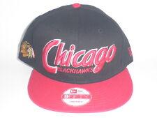 NEW ERA Chicago Blackhawks SNAP IT BACK Snapback Hat Black Red OSFA ($30) NHL