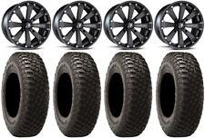 "MSA Black Kore 14"" UTV Wheels 32"" BFG KM3 Tires Honda Pioneer 1000 / Talon"