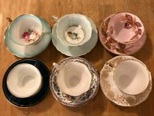 MISMATCHED TEA CUPS AND SAUCERS LOT #12 SIX SHABBY CHIC TEA PARTIES AND MORE