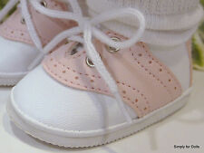 """PINK & WHITE Saddle Oxford DOLL SHOES fits 18"""" AMERICAN GIRL Doll Clothes"""