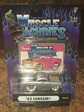 1/64 1962 Corvair Chase Car Muscle Machines Blown/supercharged In Silver