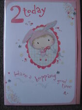 GIRLS 2ND BIRTHDAY CARD - 2 TODAY