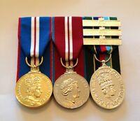 Golden Jubilee, Diamond Jubilee, VRSM Full Size Court Mounted Medals, Clasps
