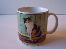 Sakura Warren Kimble Cat Collection Coffee Mug Cup Retired Pattern Oneida