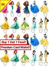 48 Principessa Disney compleanno calcio DECORAZIONI PER TORTA Premium carta wafer commestibile * STAND UP