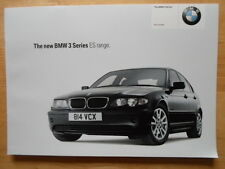 BMW 3 Series ES Range 2004 UK Market brochure prospekt - E46