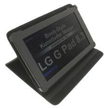 Funda para LG G PAD 8.3 Book Style Funda Protectora Soporte Para Mesa Negro