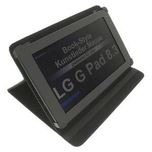 Sac Pour LG G Pad 8.3 Style Livre Étui de Protection Support de Table Noir