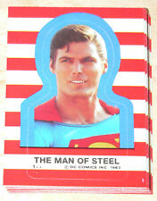 . 1983 Superman III - Superman 3 - Complete 22 Sticker set