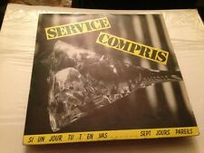 "SERVICE COMPRIS - SI UN JOUR 7"" SINGLE FRENCH ROCK"