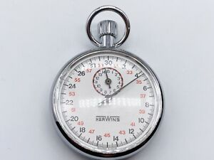 VINTAGE OLD HERWINS HER WINS STOP WATCH TIMER CLOCK STOPWATCH POCKET WATCH