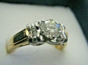 Diamond Ring  Luxury 0.86ct   Stone $2700 + Platinum/ 18k Gold FREE WATCH w/sale
