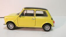 Welly Mini Cooper 1300 Yellow Coupe Car 1:24 Scale Diecast dc2393