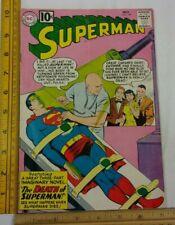 SUPERMAN comic 149 Legion Death of Superman Lex Luthor KEY 1960s VG Silver Age
