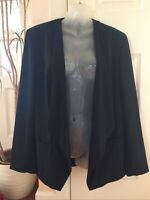 Marks And Spencer Black Waterfall Jacket Size 16 New Tags