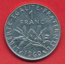 Französische Münze, Vth Republic, 1 Franc Semeuse, 1960