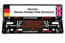 VW GOLF VOLKSWAGEN GTI RACING NUMBER PLATE SURROUNDS x 2