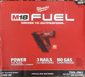 Milwaukee 2745-20 M18 FUEL 30-Degree Framing Nailer (Tool Only)