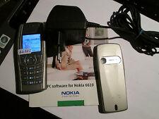 Nokia 6610i ARGENTO simfrei + parte di carico operatore-CD-ROM SUPER OK Gebr 34 H