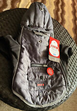 Thermal Lined Puffer Dog Jacket Coat  Black & Gray  Size Small