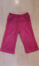 Girls Baby Gap Cerise Velour Tracksuit Bottoms - Age 12-18 mths