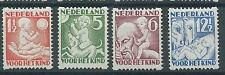 1930TG Nederland Roltanding Hoektanding R86-R89 postfris, mooie serie!