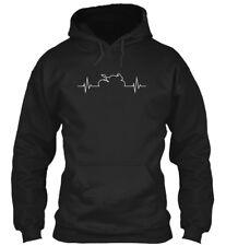 Sportbike Heartbeat Gildan Hoodie Sweatshirt